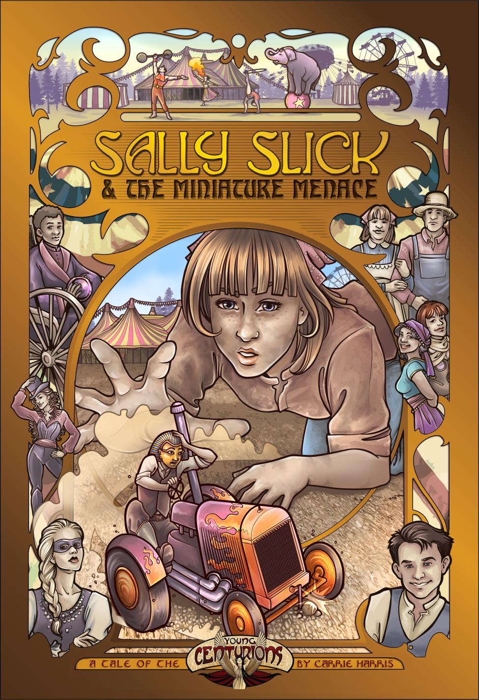 Capa de Resenha - Sally Slick and the Miniature Menace